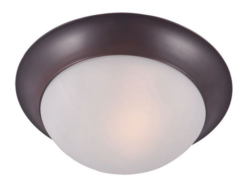 """Essentials - 585x 12"""" Single Light Flush Mount in Oil Rubbed Bronze with Frosted Glass Finish"""
