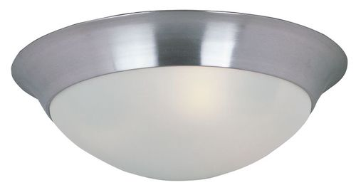 "Essentials - 585x 14"" 2-Light Flush Mount - Satin Nickel"