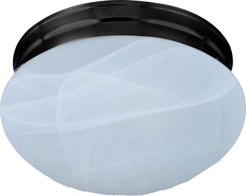 """Essentials - 588x 9"""" 2 Light Flush Mount in Oil Rubbed Bronze with Marble Glass Finish"""