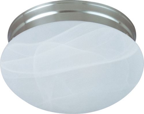 """Essentials - 588x 9"""" 2 Light Flush Mount in Satin Nickel with Marble Glass Finish"""