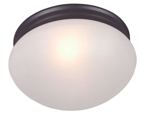 """Essentials - 588x 9"""" 2 Light Flush Mount in Oil Rubbed Bronze with Frosted Glass Finish"""