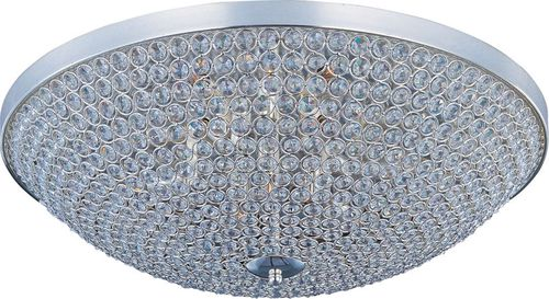 """Glimmer 19"""" 6 Light Flush Mount in Plated Silver"""