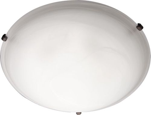 """Malaga 20"""" 4 Light Flush Mount in Oil Rubbed Bronze with Marble Glass Finish"""