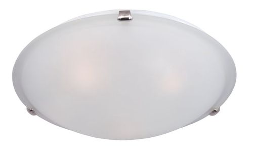 """Malaga 20"""" 4 Light Flush Mount in Satin Nickel with Frosted Glass Finish"""