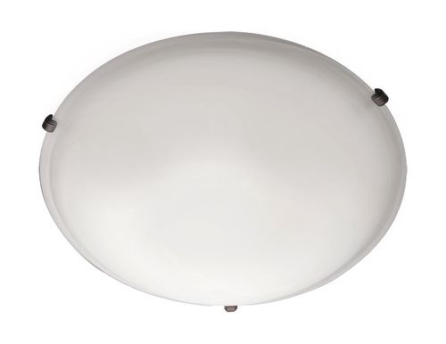 """Malaga 12.5"""" 2 Light Flush Mount in Oil Rubbed Bronze with Frosted Glass Finish"""