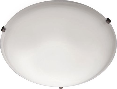 """Malaga 20"""" 4 Light Flush Mount in Oil Rubbed Bronze with Frosted Glass Finish"""