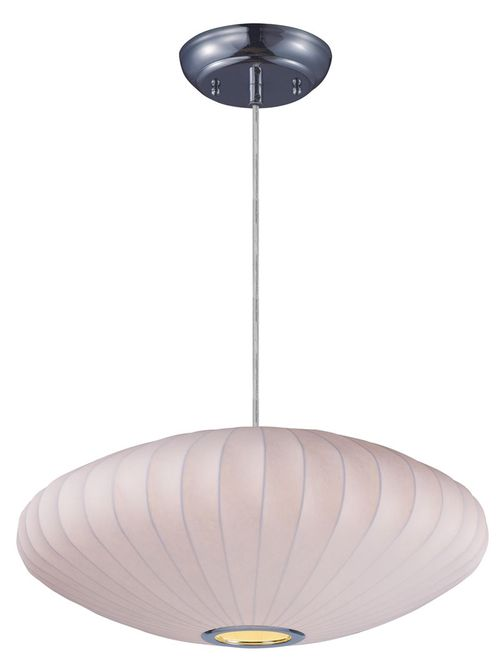 """Cocoon 25"""" Single Light Pendant in Polished Chrome"""