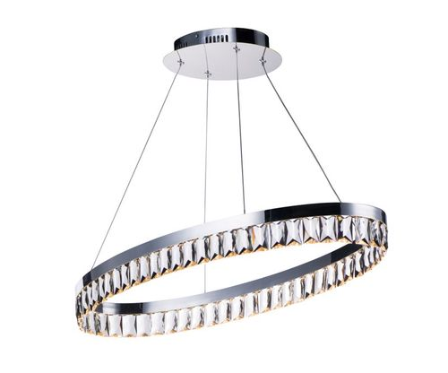 """Icycle 15"""" x 3"""" Chandelier with 1 Light - Polished Chrome"""