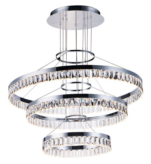 """Icycle 31.5"""" Single Light Chandelier in Polished Chrome"""