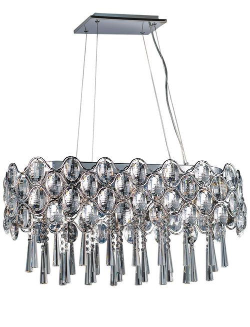 """Jewel 11"""" Chandelier with 19 Lights with bulbs included - Polished Chrome"""