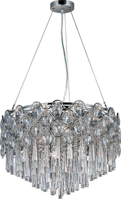 """Jewel 14"""" Chandelier with 20 Lights with bulbs included - Polished Chrome"""