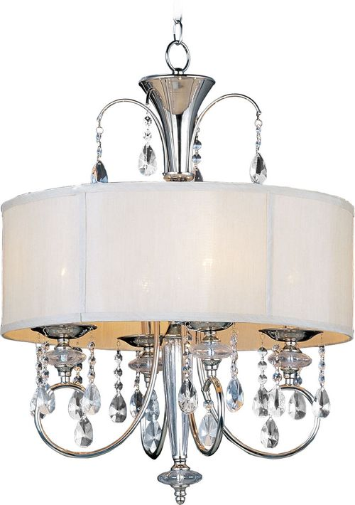"""Montgomery 22"""" Wide 4 Light Single Pendant using E12 Candelabra Incandescent Bulbs in Polished Nickel"""