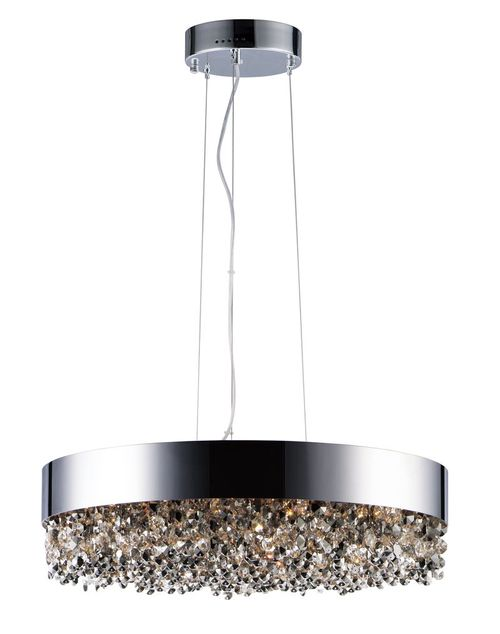 """Mystic 24"""" Wide 16 Light Single Pendant using PCB Integrated LED Bulbs in Polished Chrome"""