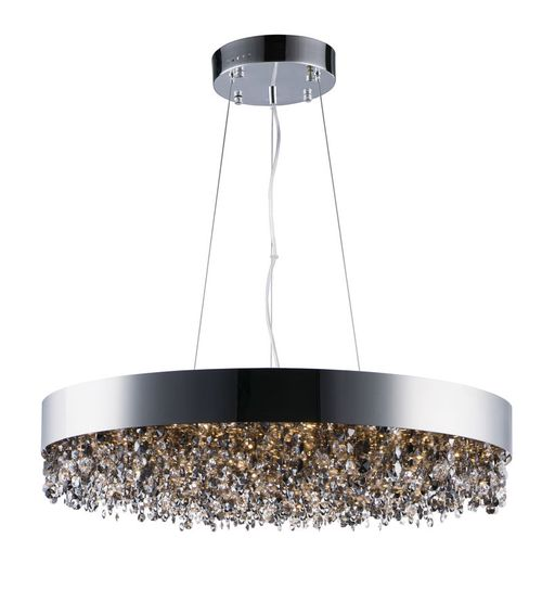 """Mystic 30"""" Wide 22 Light Single Pendant using PCB Integrated LED Bulbs in Polished Chrome"""