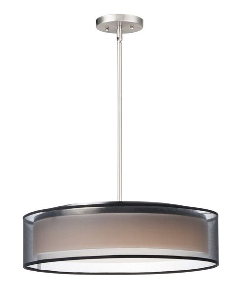 """Prime 20"""" x 6.5"""" Satin Nickel Single Pendant with 5 Lights - (Steel material) - 783209212688"""