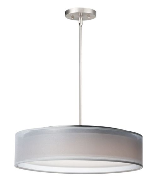 """Prime 20"""" x 6.5"""" Satin Nickel Single Pendant with 5 Lights - (Steel material) - 783209212701"""