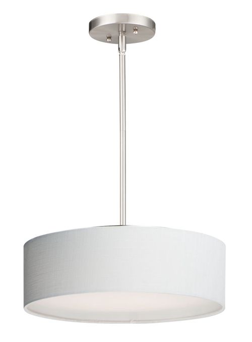 """Prime 16"""" x 6.5"""" Satin Nickel Single Pendant with 3 Lights - (Steel material) - 783209212541"""