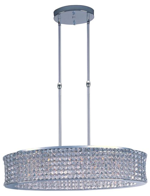 """Vision 12"""" Wide 15 Light Single Pendant using G9 Xenon Bulbs in Polished Chrome"""