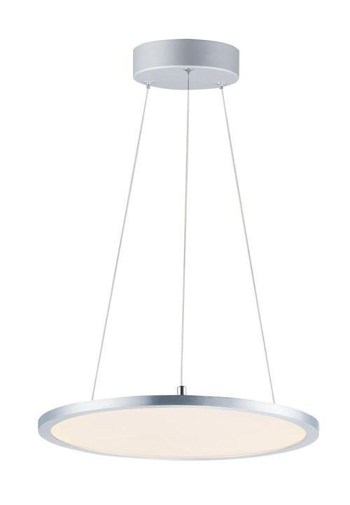 """Wafer 15"""" x 0.5"""" Satin Nickel Pendant with 1 Light - (Aluminum material) - 783209223264"""