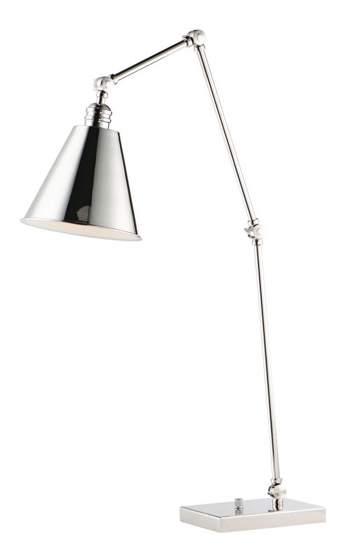 """Library 26.5"""" Table Lamp in Polished Nickel"""