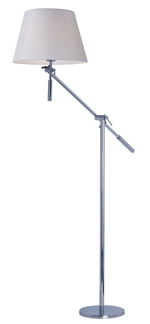 """Hotel 14.25"""" x 48"""" Floor Lamp in Polished Chrome"""