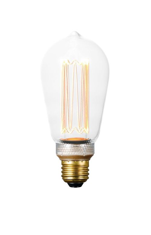 3.5 W E26 Medium Dimmable LED Light Bulb with Clear Finish