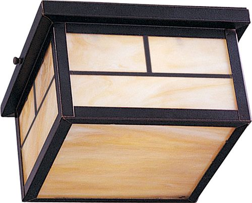 """Coldwater 5"""" 2 light Outdoor Flush Mount in Burnished"""