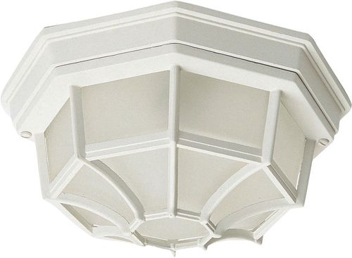 """Crown Hill 4.75"""" 2 light Outdoor Flush Mount in White"""