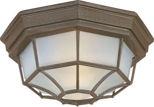 """Crown Hill 4.75"""" 2 light Outdoor Flush Mount in Rust Patina"""