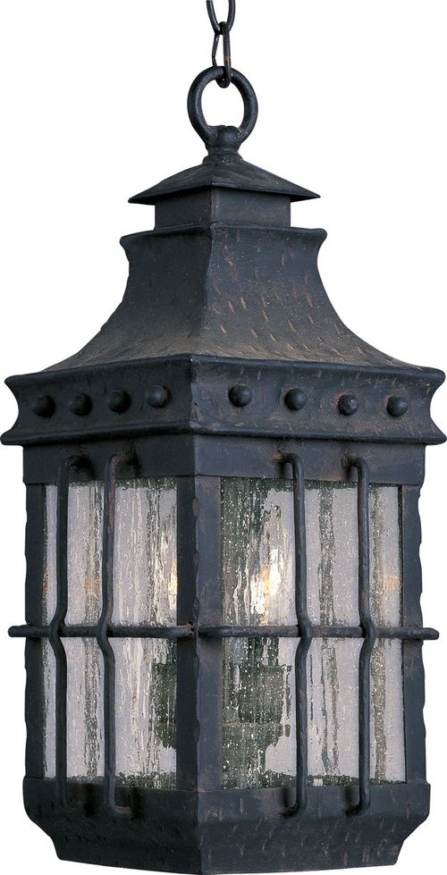 """Nantucket 18.5"""" 3 light Outdoor Hanging Lantern in Country Forge"""