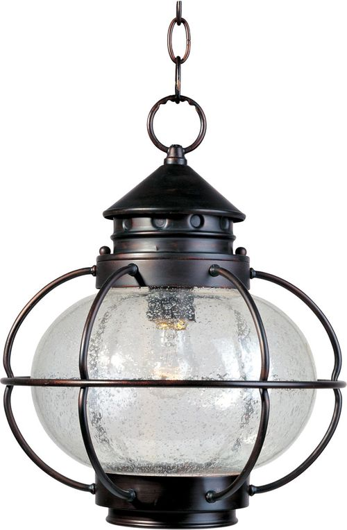 """Portsmouth 12"""" 1-Light Outdoor Hanging Lantern - Oil Rubbed Bronze"""