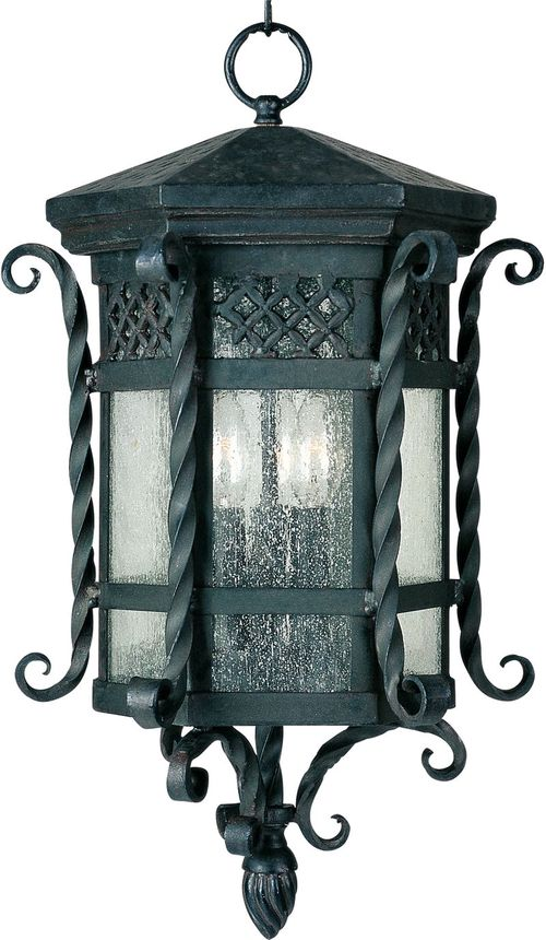 """Scottsdale 21"""" 3 light Outdoor Hanging Lantern in Country Forge"""