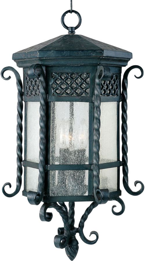 """Scottsdale 24"""" 3 light Outdoor Hanging Lantern in Country Forge"""