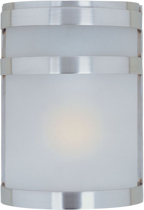 """Arc 6.5"""" Single Light Outdoor Wall Sconce in Stainless Steel"""