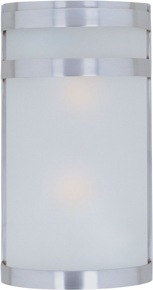 """Arc 6.5"""" 2-Light Outdoor Wall Mount - Stainless Steel"""