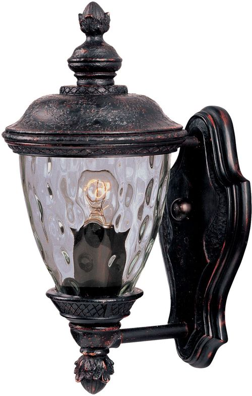 """Carriage House DC 6"""" Single Light Outdoor Wall Mount Light in Oriental Bronze"""