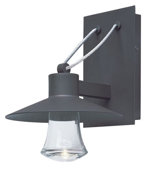 """Civic 8"""" Single Light Outdoor Wall Mount Light in Architectural Bronze"""