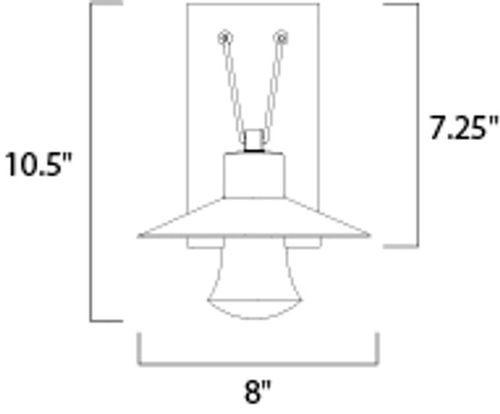 """Civic 8"""" 1-Light Outdoor Wall Mount - Architectural Bronze"""