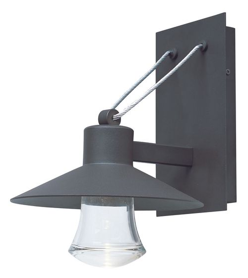 """Civic 10"""" Single Light Outdoor Wall Mount Light in Architectural Bronze"""