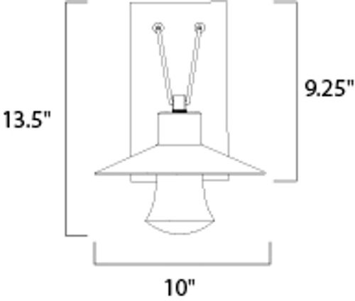 """Civic 10"""" 1-Light Outdoor Wall Mount - Architectural Bronze"""