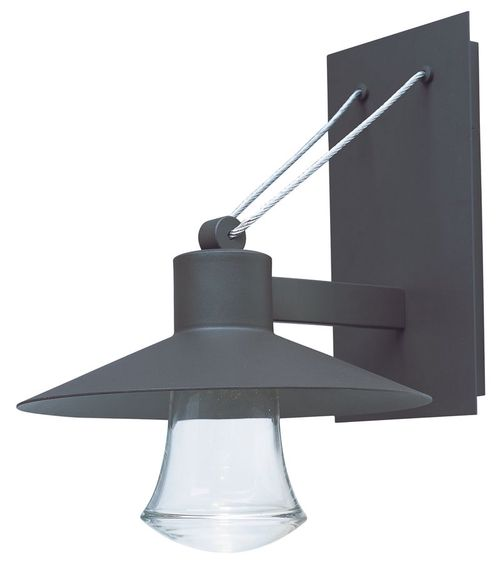"""Civic 14"""" Single Light Outdoor Wall Mount Light in Architectural Bronze"""