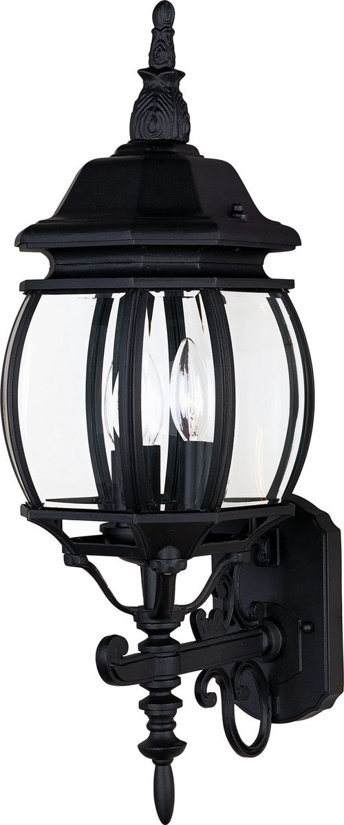 "Crown Hill 8"" 3-Light Outdoor Wall Mount - Black"