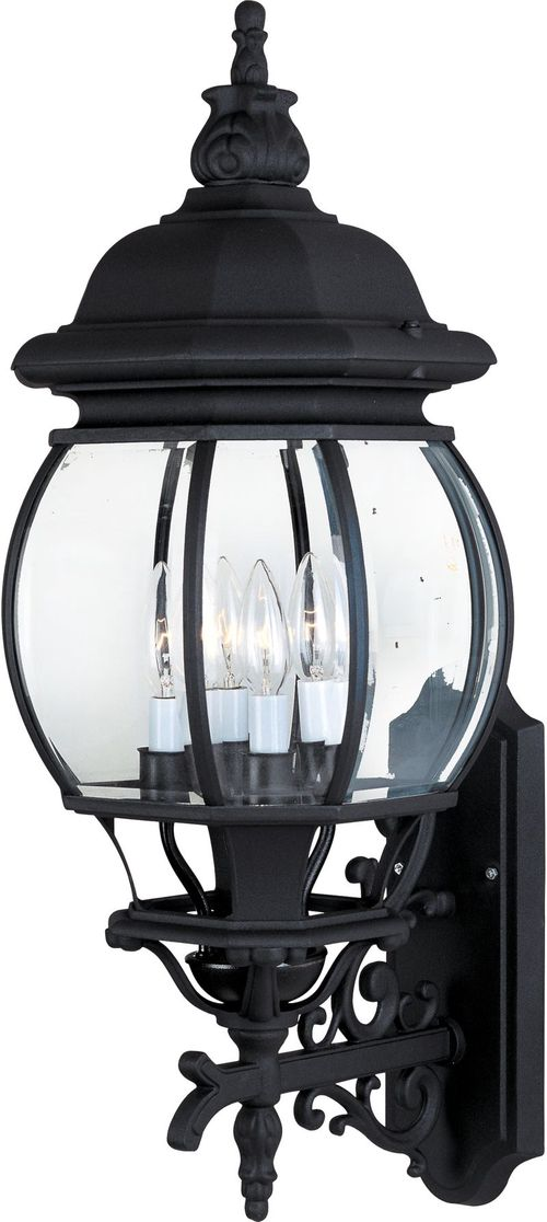 """Crown Hill 11"""" 4 Light Outdoor Wall Mount Light in Black"""