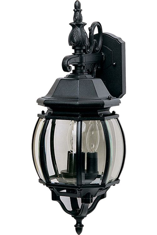 """Crown Hill 23"""" 3 Light Outdoor Wall Mount Light in Black"""