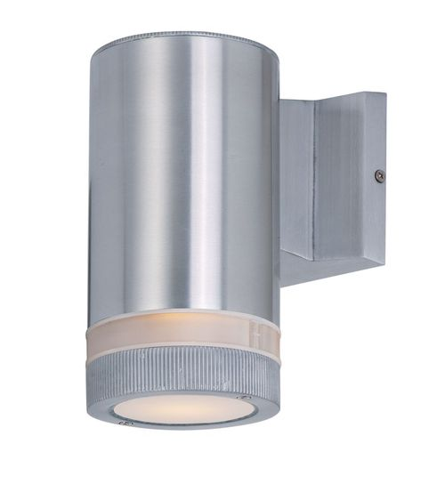 """Lightray 4.25"""" Single Light Outdoor Wall Sconce in Brushed Aluminum"""