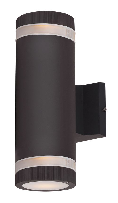 """Lightray 4.25"""" 2 Light Outdoor Wall Sconce in Architectural Bronze"""