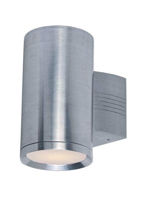 """Lightray 5"""" 1-Light Outdoor Wall Mount - Brushed Aluminum"""