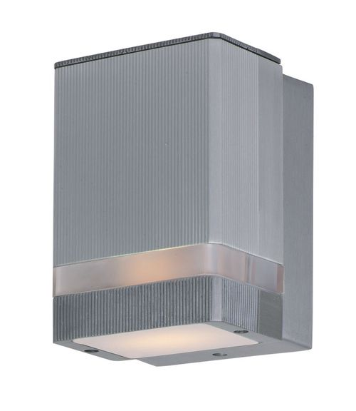 """Lightray 6.25"""" Single Light Outdoor Wall Sconce in Brushed Aluminum"""