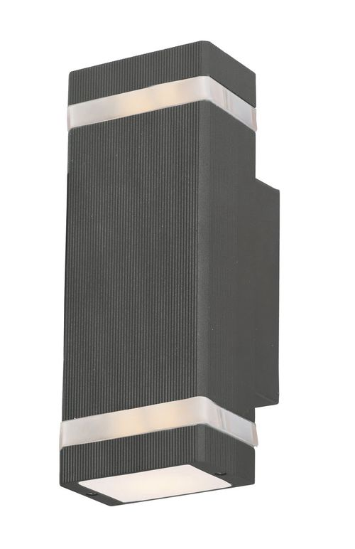 """Lightray 9.5"""" 2 Light Outdoor Wall Sconce in Architectural Bronze"""