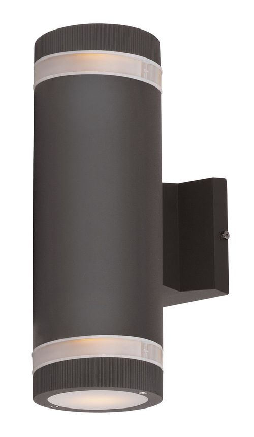 """Lightray 12"""" 2 Light Outdoor Wall Sconce in Architectural Bronze"""